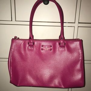 KateSpade Welesley Martine Crossgrain Leather Tote